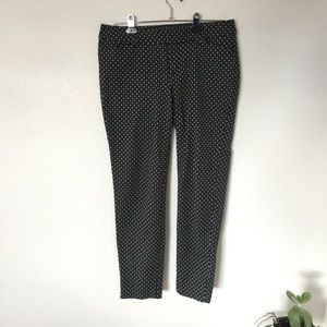 OLD NAVY black and white floral Pixie pants